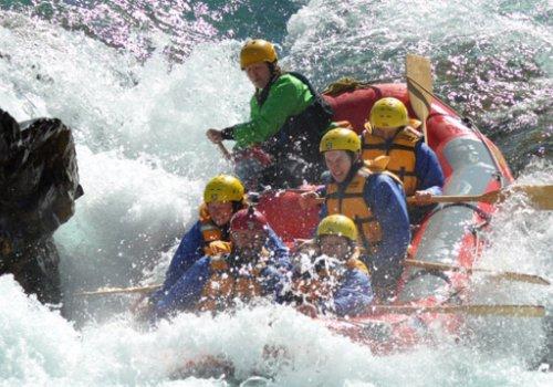 Wildwasser-Rafting auf dem Rangitata River