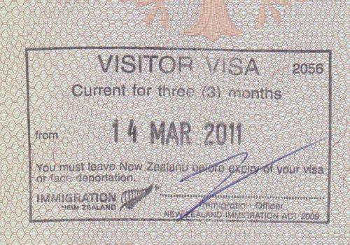 Touristenvisum für Neuseeland